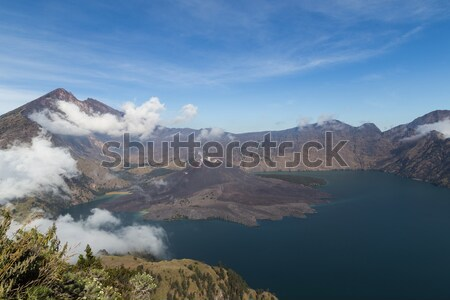Mount Rinjani crater lake Stock photo © oliverfoerstner