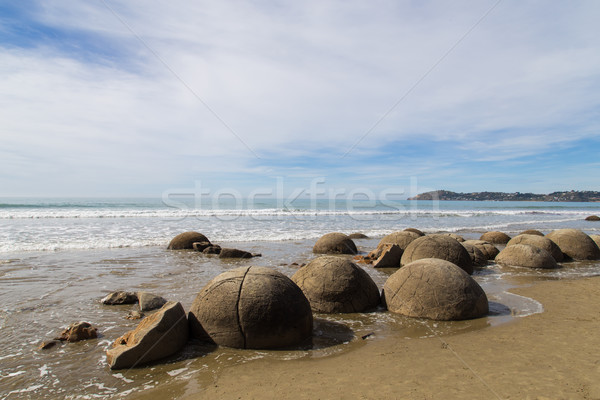 Moeraki Boulders in New Zealand Stock photo © oliverfoerstner