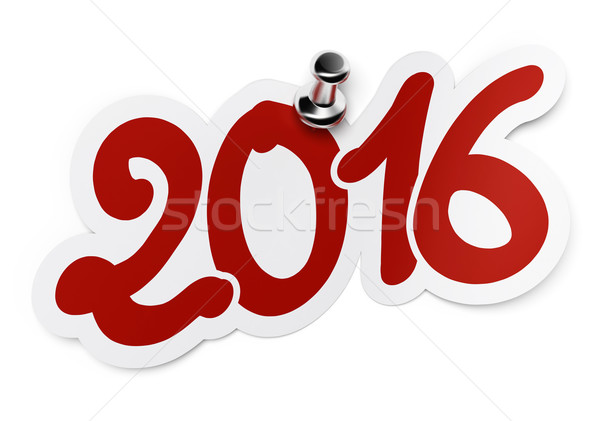 New year 2016, two thousand sixteen Stock photo © olivier_le_moal