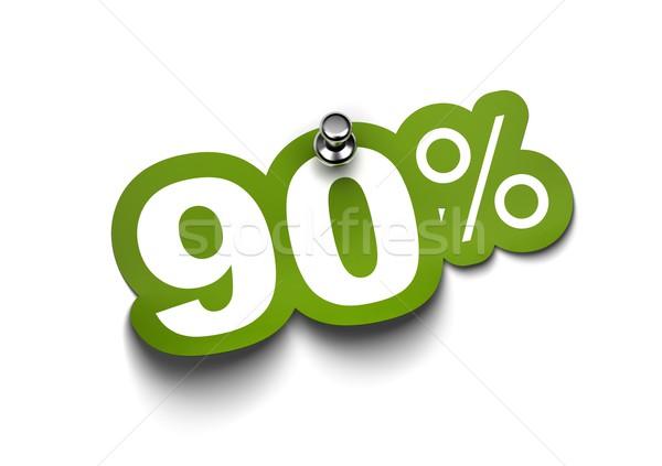 ninety percent sticker Stock photo © olivier_le_moal