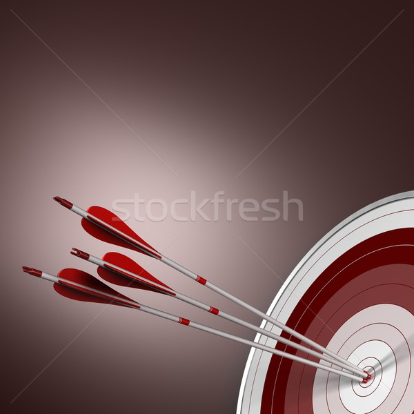 Bull's Eye, Perfect Shot, Business Concept Stock photo © olivier_le_moal