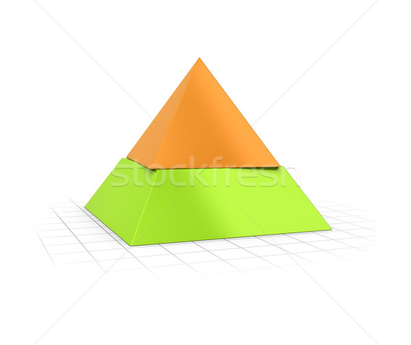 Layered Pyramid Two Levels  Stock photo © olivier_le_moal