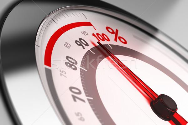 Doskonałość procent igły wskazując blisko jeden Zdjęcia stock © olivier_le_moal