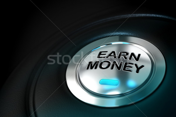 earn money button Stock photo © olivier_le_moal