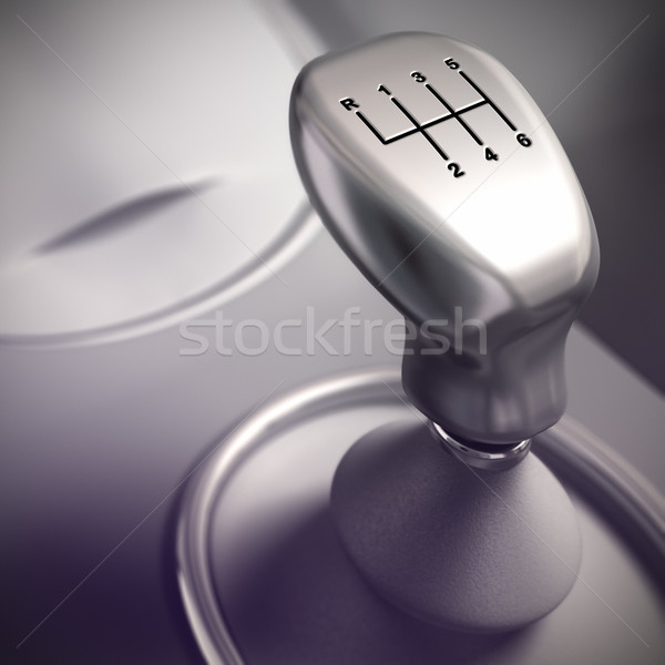 Gear Shift Detail, Automobile Stock photo © olivier_le_moal