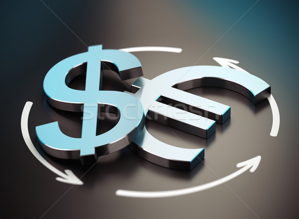 Euro and Dollar Symbol. EUR USD Pair Stock photo © olivier_le_moal