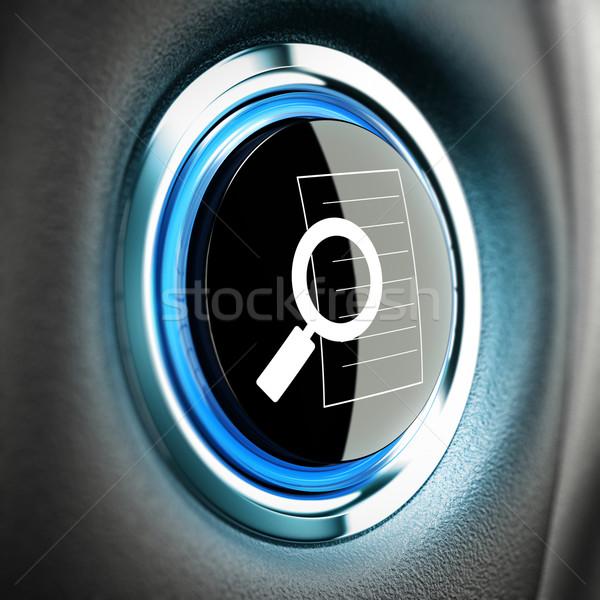 поисковая кнопки икона синий Blur Сток-фото © olivier_le_moal