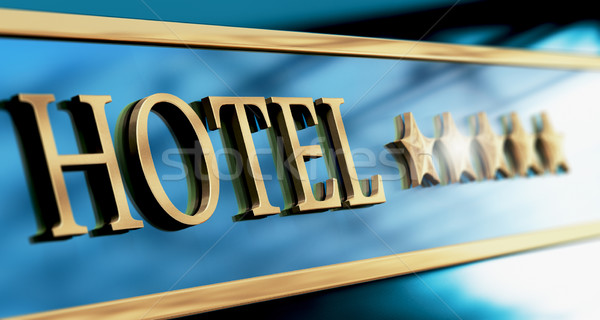 Five Stars Luxury Hotel Sign or Header Stock photo © olivier_le_moal