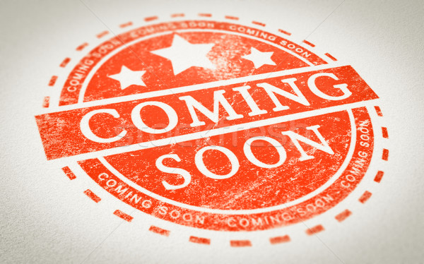 Coming Soon Stamp Stock photo © olivier_le_moal