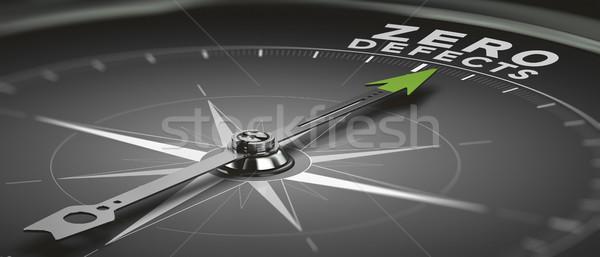 Obiettivo pari a zero bussola ago punto testo Foto d'archivio © olivier_le_moal