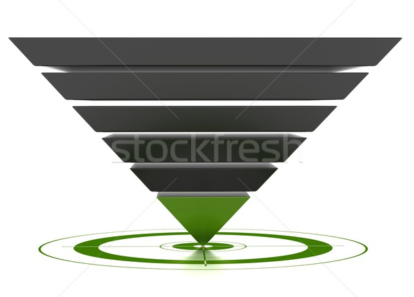 customizable marketing conversion funnel Stock photo © olivier_le_moal