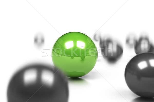 unique, be different green business concept Stock photo © olivier_le_moal