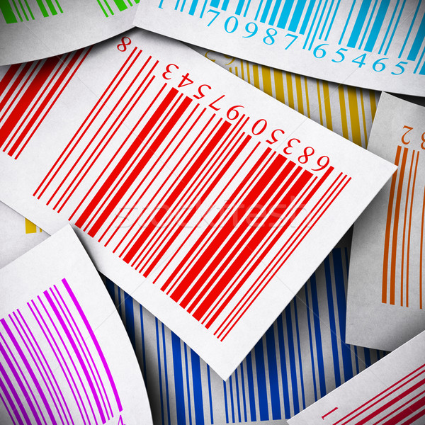 multicolored bar codes square image Stock photo © olivier_le_moal