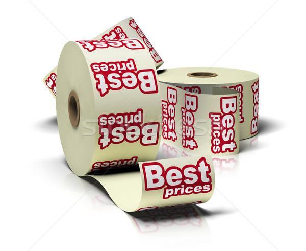 Legjobb ár matrica tekercsek fehér tükröződések üzlet Stock fotó © olivier_le_moal