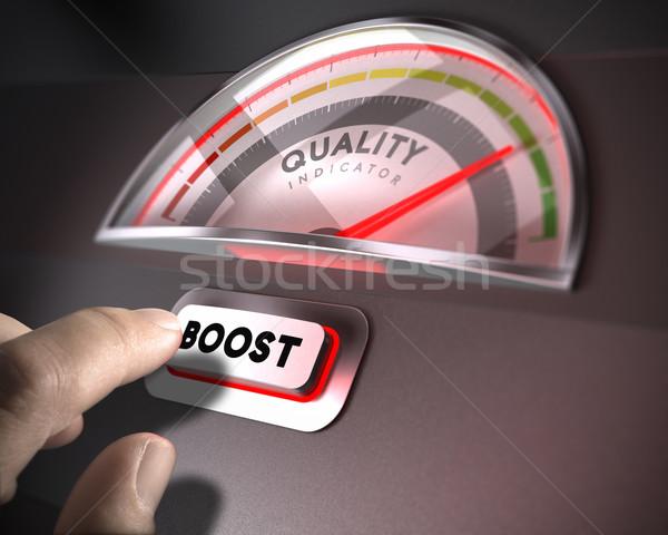 Qualidade gestão indicador discar fortalecimento botão Foto stock © olivier_le_moal