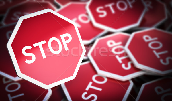 Stop Signs, Protest Symbol Stock photo © olivier_le_moal