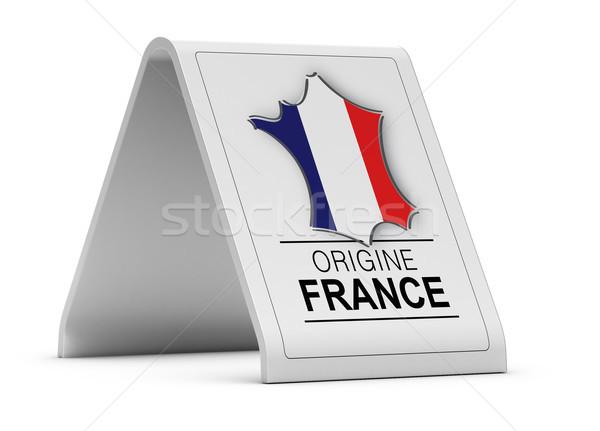 Oorsprong teken frans product witte achtergrond Stockfoto © olivier_le_moal