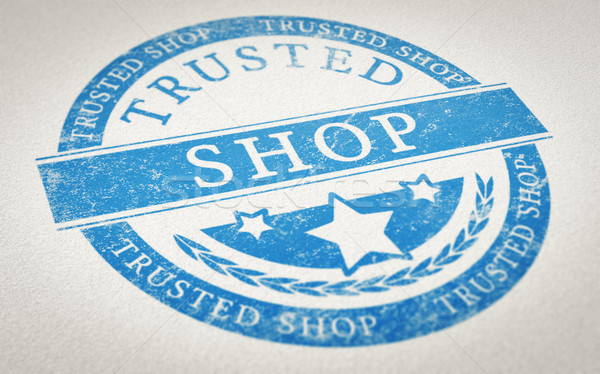 Trusted Shop Mark Stock photo © olivier_le_moal
