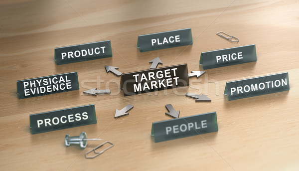 The 7ps of Service Marketing Mix Over White Background. Stock photo © olivier_le_moal