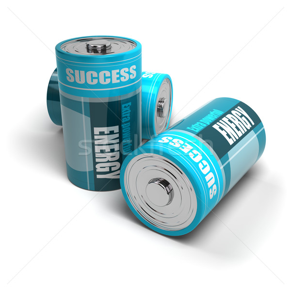 battery concept, energy reaching success, positive energies Stock photo © olivier_le_moal