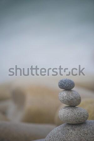 Harmónia három kavicsok boglya természetes szabad Stock fotó © olivier_le_moal