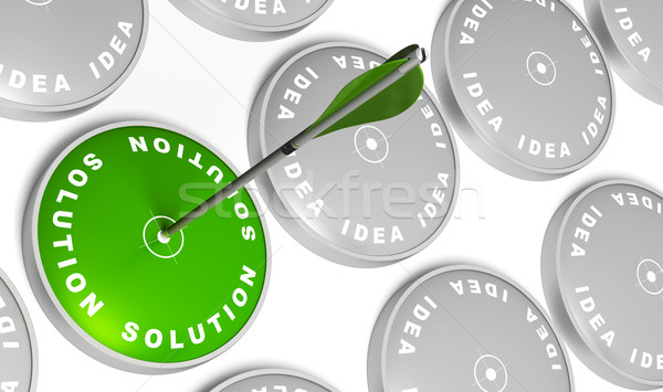 ideas turned to solution Stock photo © olivier_le_moal