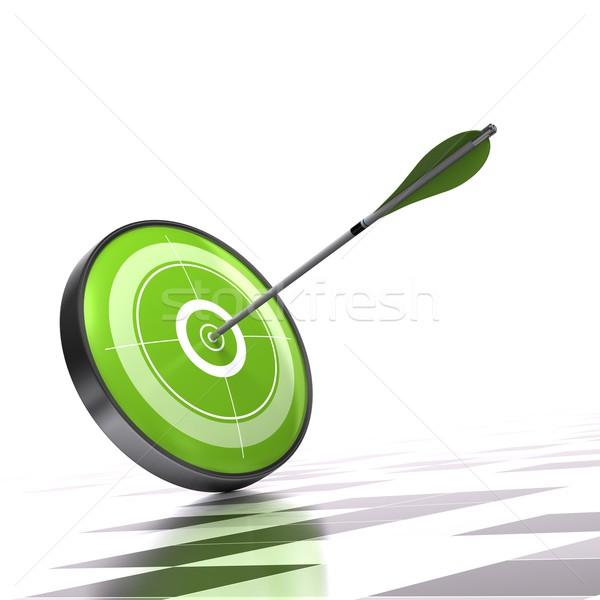 зеленый целевой стрелка спорт маркетинга белый Сток-фото © olivier_le_moal