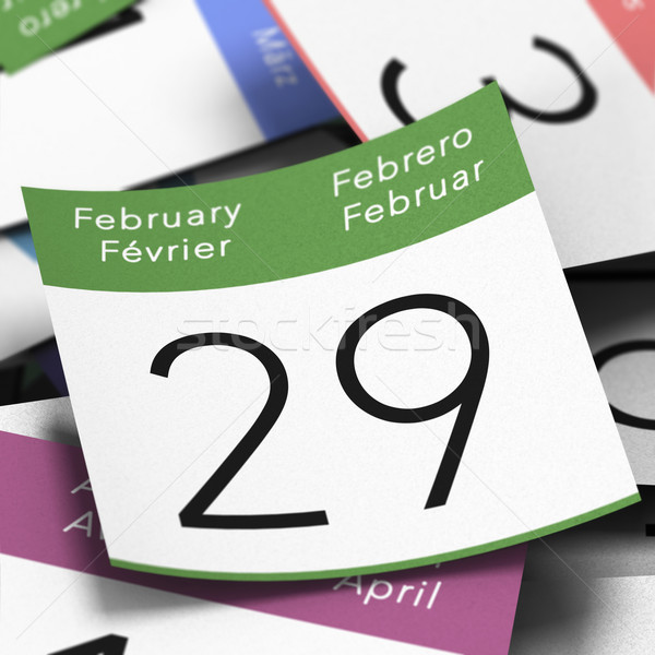 Leap Year February 29th Stock photo © olivier_le_moal