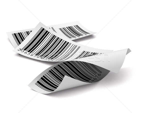 multicolored barcodes sticker label over white background Stock photo © olivier_le_moal