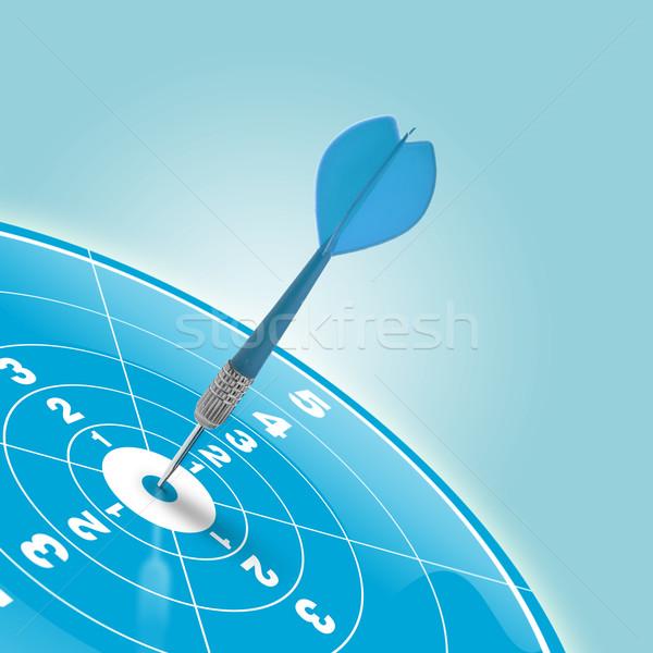 Trabalho em equipe alvo meta dardos centro azul Foto stock © olivier_le_moal