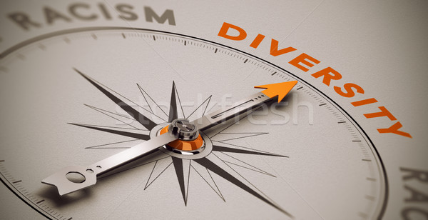 Racisme vs diversité sociale boussole aiguille Photo stock © olivier_le_moal