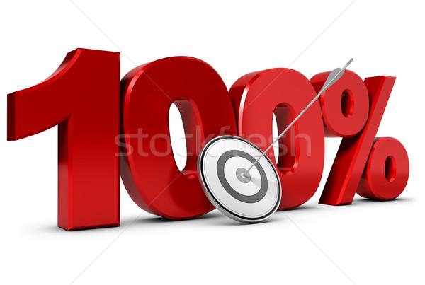 Obiettivo uno cento cento business bianco Foto d'archivio © olivier_le_moal