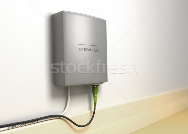FTTX serie. Fiber to the home, FTTH  Stock photo © olivier_le_moal