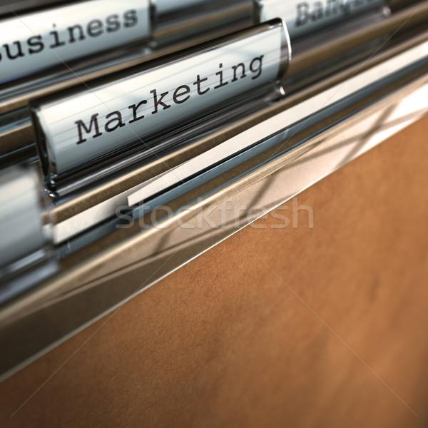 Marketing parola cartella copia spazio fondo Foto d'archivio © olivier_le_moal