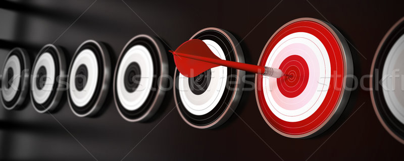 Wiele czarny refleksji czerwony dart Zdjęcia stock © olivier_le_moal