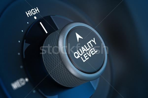 Calidad gestión satisfacción del cliente botón escrito nivel Foto stock © olivier_le_moal