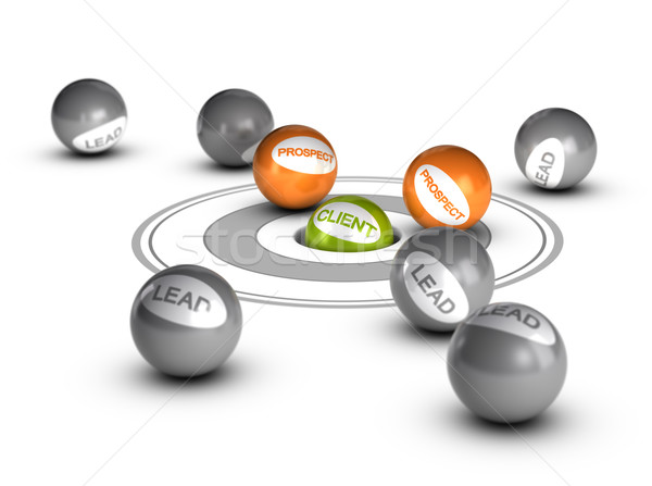 Lead Nurturing - Prospect, Client or Customer Stock photo © olivier_le_moal