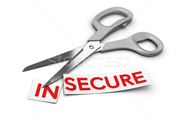 Insecure vs Secure - Security Concept Stock photo © olivier_le_moal