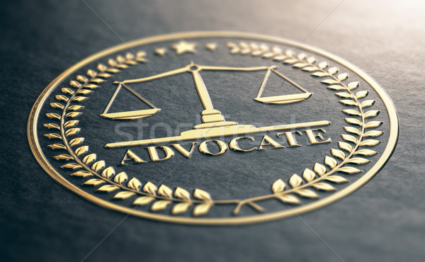 Golden Advocate Symbol Stock photo © olivier_le_moal
