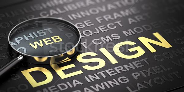 Web Design Background. Internet Communication Stock photo © olivier_le_moal
