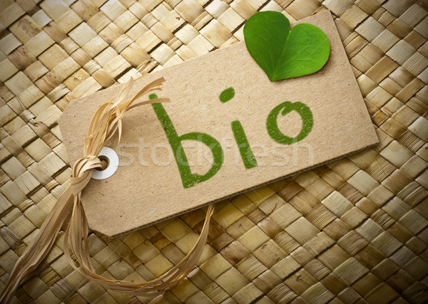 Natual cardboard label with the word bio Stock photo © olivier_le_moal