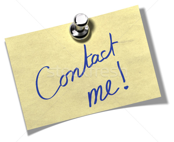 contact me memo note Stock photo © olivier_le_moal