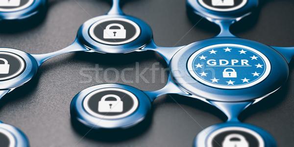 Foto stock: General · regulación · ue · conformidad · 3d