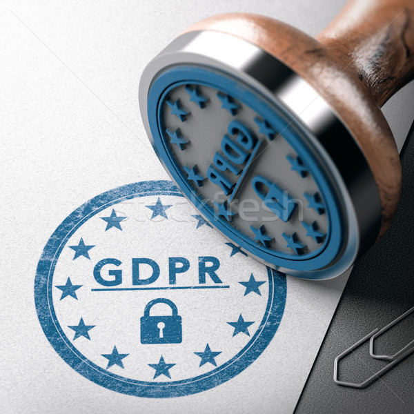 Stock photo: DPM, GDPR label, EU General Data Protection Regulation complianc