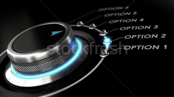 La toma de decisiones elección cambiar botón azul luz Foto stock © olivier_le_moal