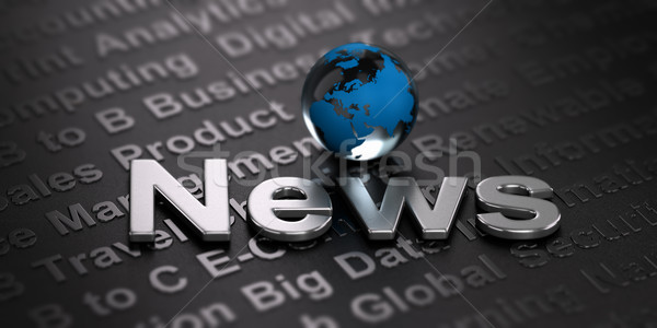 Worldwide News Background. Media Concept Stock photo © olivier_le_moal