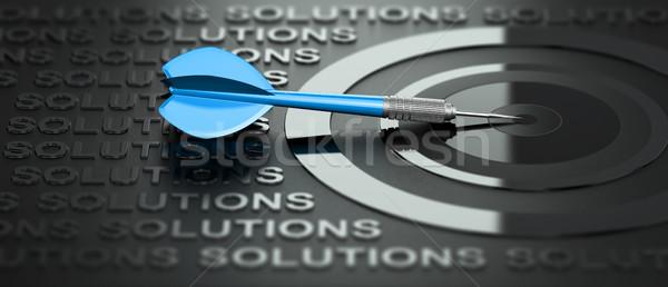 бизнеса маркетинга Consulting Creative решения 3d иллюстрации Сток-фото © olivier_le_moal