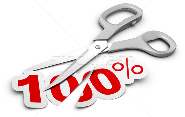 fifty fifty, discount or rebate concept Stock photo © olivier_le_moal