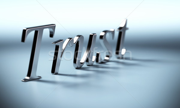 trust word Stock photo © olivier_le_moal