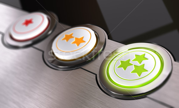 Customer Feedback, Worn Rating Button Stock photo © olivier_le_moal